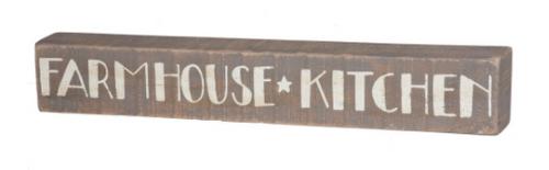 Slat Farmhouse Kitchen Box Sign