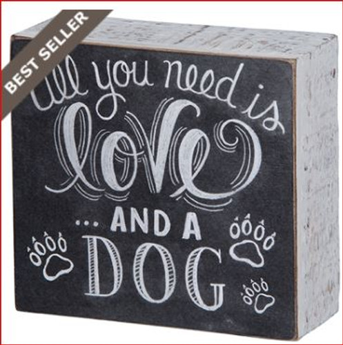 And A Dog Chalk Box Sign