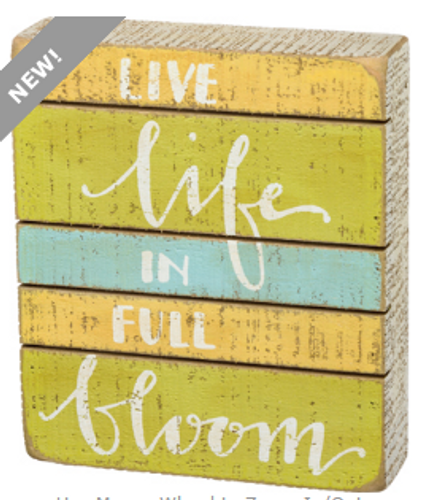 Full Bloom Box Sign