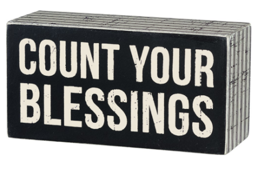 Count Your Blessings Box Signs