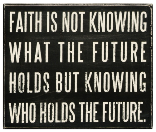 Faith-Is Box Sign