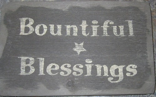Bountiful Blessings Wooden Sign