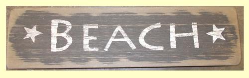 Beach Wooden Sign