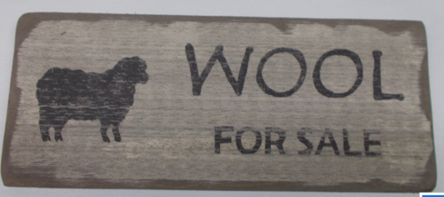 Wool For Sale Wooden Sign
