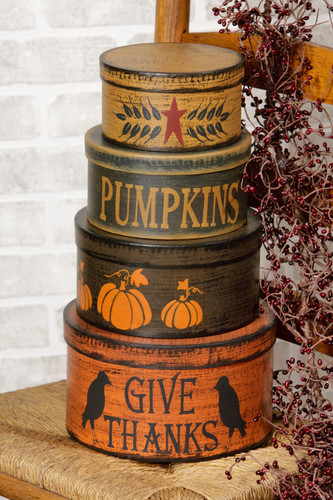 Primitive Autumn Stack Boxes