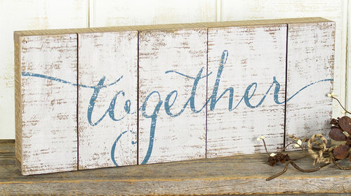 Together Pallet Sign