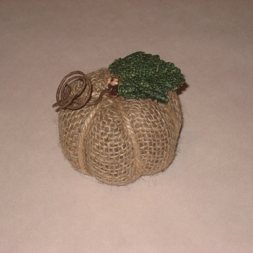 Small Burlap Pumpkin