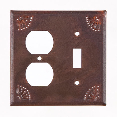 Rustic Tin Outlet and Switch Cover Chisel Design