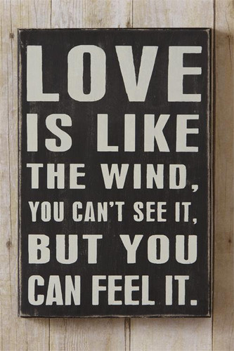 Love Is Like The Wind Box Sign