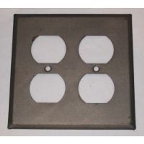 Kettle Black double Outlet Cover