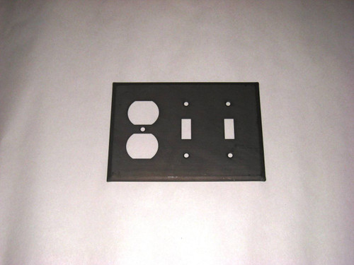 Kettle Black Double Switch & Outlet Cover