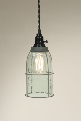 Half Gallon Caged Mason Jar Pendant Lamp