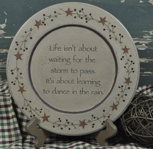 Dancing In The Rain Carved Plate