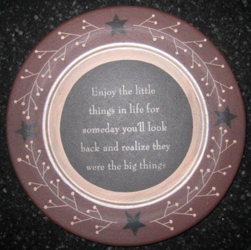 Enjoy Little Things Plate