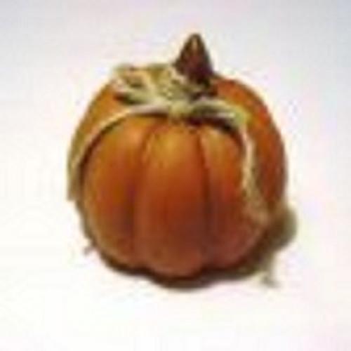 Orange Pumpkin With Bow