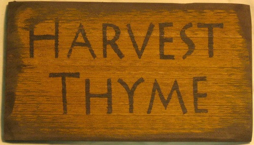 Harvest Thyme Wooden Sign