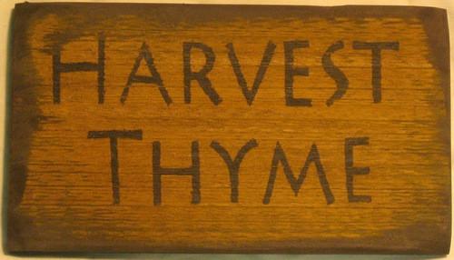 Harvest Thyme Wooden Sign