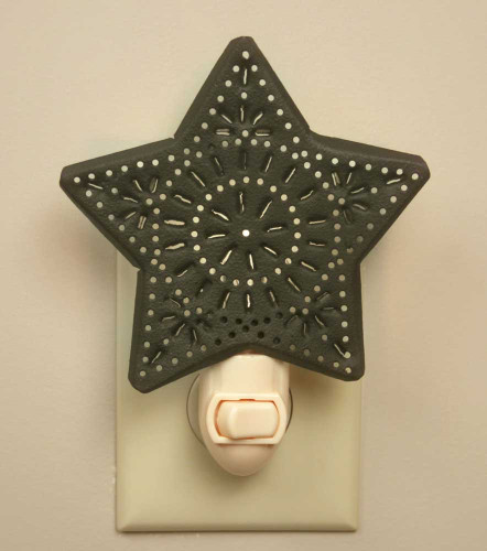 Punched Star Night Light