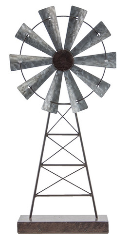 Rustic Windmill Stand