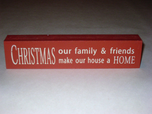 Red Christmas Block Sign