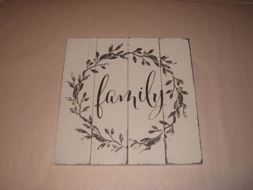 Family Sculpted Wood Sign