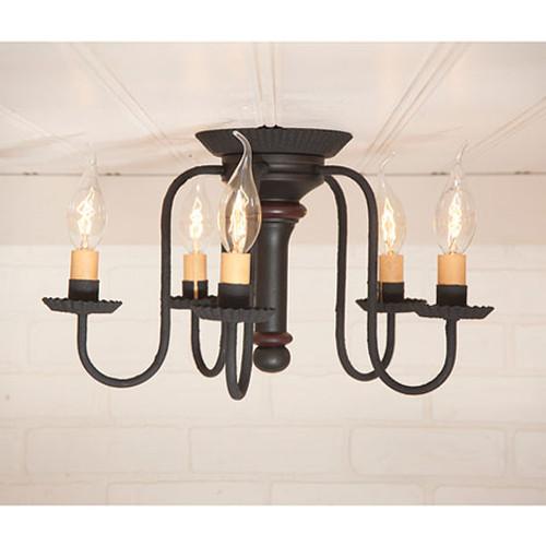 Irvin's Berkshire Ceiling Light In Sturbridge Black