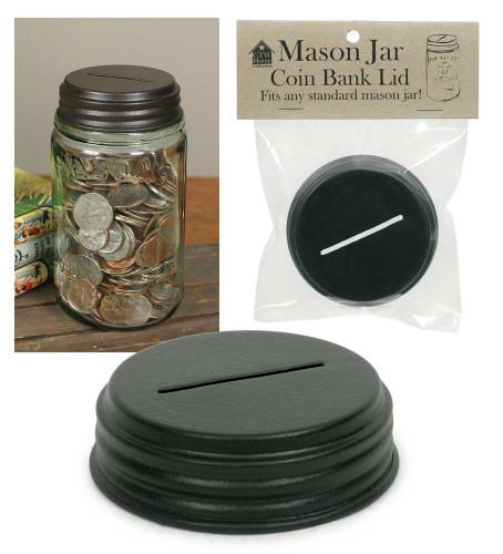 Coin Bank Mason Jar Lid