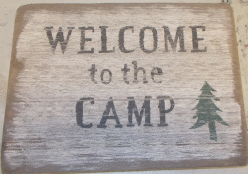 Welcome To Camp Wooden Sign