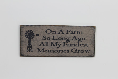On A Farm Wooden Sign