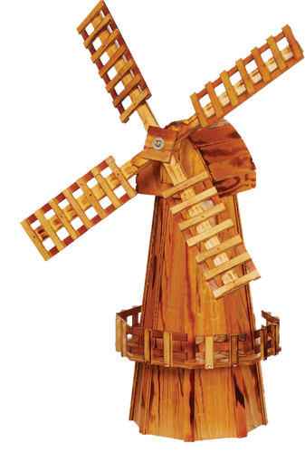 Amish Handcrafted Wooden Windmill