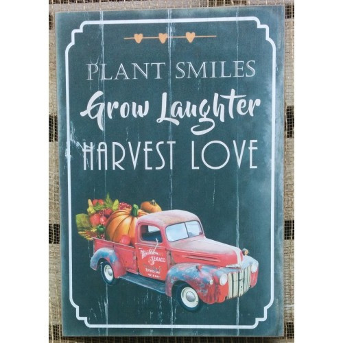 Plant Smiles Sign