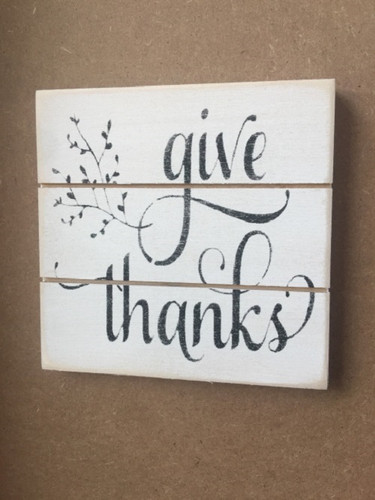 Give Thanks Grooved Sign