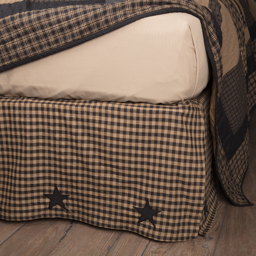 Black Check Star Bedding Collection by VHC Brands