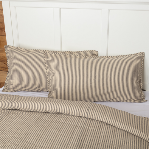 Sawyer Mill Charcoal Ticking Stripe Sham by VHC Brands