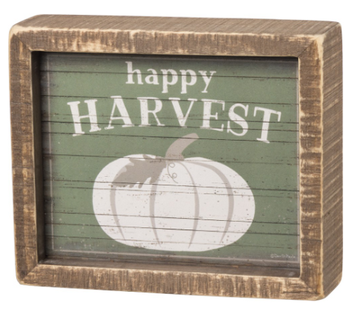 Happy Harvest Inset Box Sign