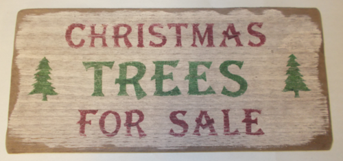 Christmas Trees For Sale Wooden Sign