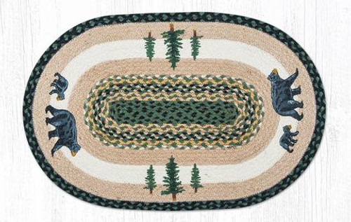Earth Rugs™ Oval Patch Rug Bear Timbers