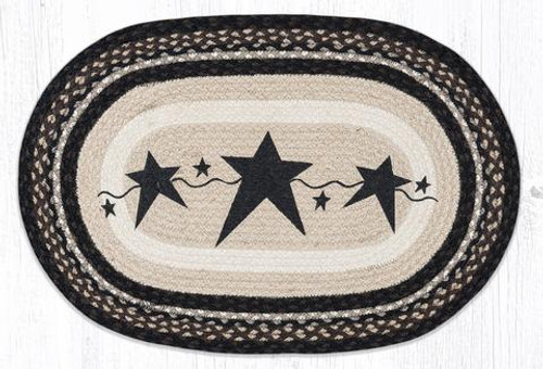 Primitive Stars Black Oval Patch Rug