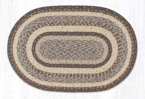 Earth Rugs™ oval craft-spun braided jute rug in pictured in: Rose & Gold - C9-112