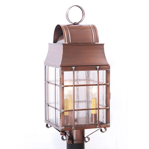 Irvin's Tinware Washington Post Outdoor Lantern Finished In Antique Copper