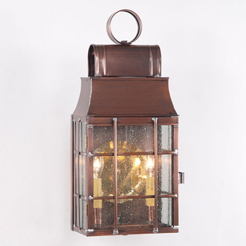 Irvin's Tinware Washington Wall Outdoor Lantern Finished In Antique Copper