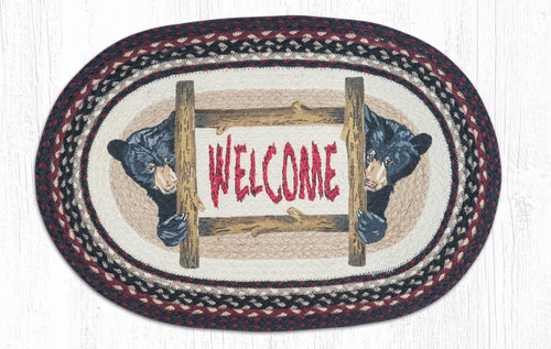 Oval Patch Rug - OP-344 - Bear Welcome
