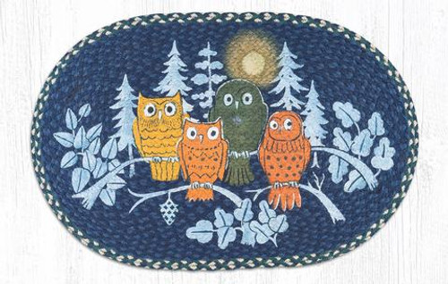 Midnight Owls Jute Rug