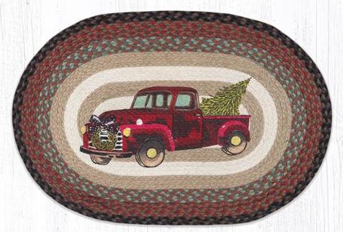 Christmas Truck Jute Rug