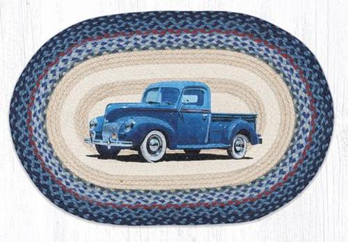 Blue Truck Jute Rug