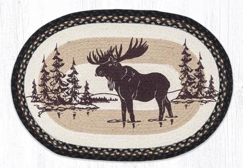 Moose Silhouette Jute Rug