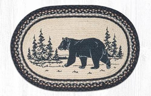 Bear Silhouette Jute Rug