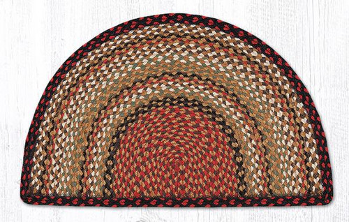 Earth Rugs™ Slice Braided Jute Rug Pictured In: Burgundy, Mustard, Ivory