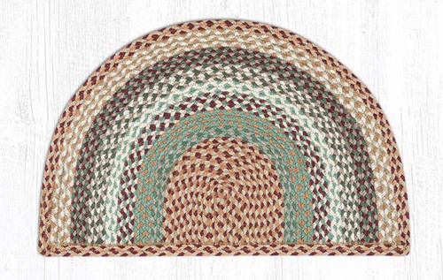 Earth Rugs™ Slice Braided Jute Rug Pictured In: Buttermilk Cranberry
