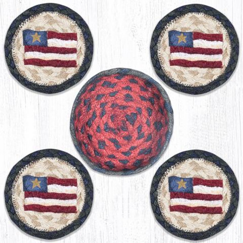 Prim Star Flag Coaster Set